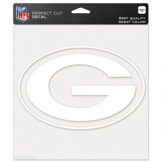 WinCraft, Inc. Green Bay Packers 8x8 White Perfect Cut Decal - G