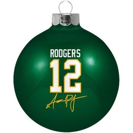 Green Bay Packers Aaron Rodgers Round Ball Ornament