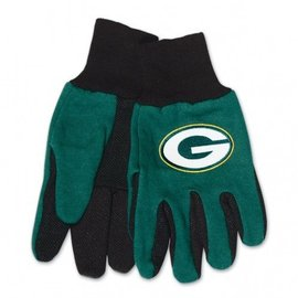 Green Bay Packers Adult 2 tone work gloves