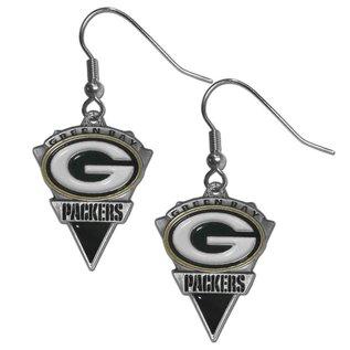 Siskiyou Sports Green Bay Packers Arrowhead Dangle Earrings