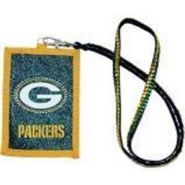 Green Bay Packers Beaded lanyard wallet