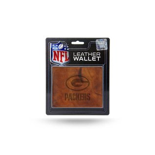 Rico Industries, Inc. Green Bay Packers Brown Leather Billfold With Man-made Interior