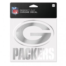 Green Bay Packers Chrome 6x6 Perfect Cut Decal