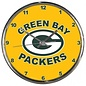 WinCraft, Inc. Green Bay Packers Chrome Clock with Yellow Background