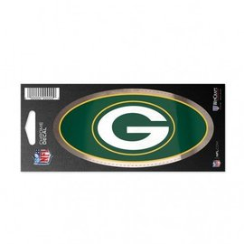 Green Bay Packers Chrome decal 3x7