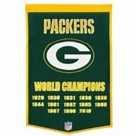 Green Bay Packers Dynasty Wool Banner