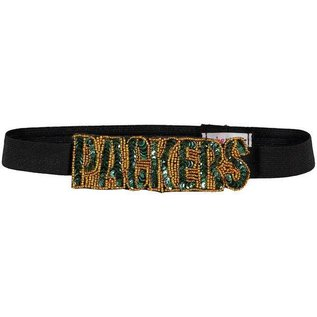 Green Bay Packers Elastic Hairband with Sequins