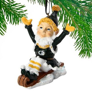 Green Bay Packers Elf on a Sled Ornament