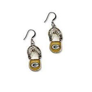 Green Bay Packers Flip Flop Dangle Earrings