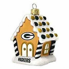 Green Bay Packers Gingerbread House Ornament