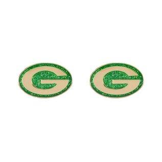 Green Bay Packers Gold & Glittery Post Earrings