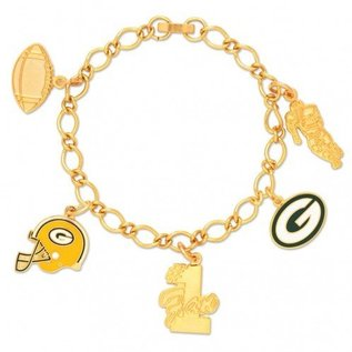 WinCraft, Inc. Green Bay Packers Gold Charm Bracelet