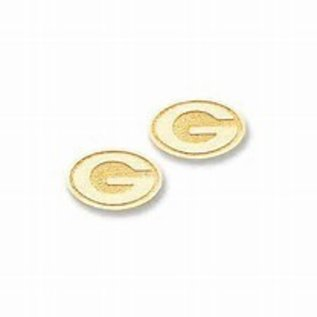 Green Bay Packers Gold G Post Earrings