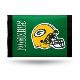 Green Bay Packers Green Nylon Trifold Wallet