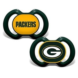 Green Bay Packers green pacifiers - 2 pack