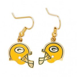 WinCraft, Inc. Green Bay Packers Helmet Dangle Earrings