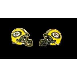 Green Bay Packers Helmet Post Earrings