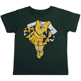 Outerstuff Green Bay Packers Infant Cheerleader Dreams Short Sleeve Tee