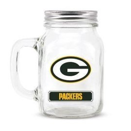 Duck House Green Bay Packers mason jar glass
