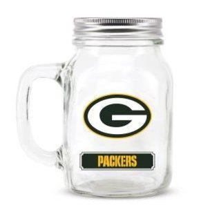 Duck House Green Bay Packers mason jar glass