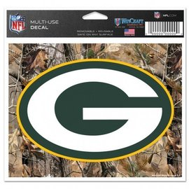Green Bay Packers mulit-use colored decal 5x6 - camo