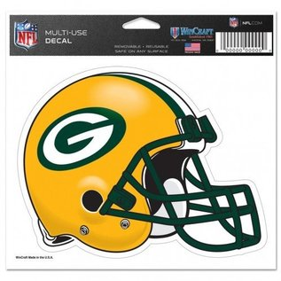 WinCraft, Inc. Green Bay Packers Multi-use Colored Helmet Decal 5x6
