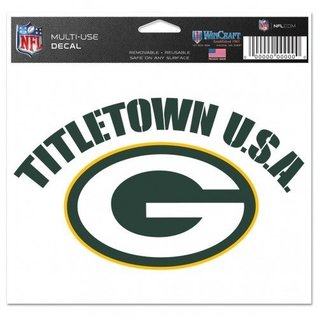 WinCraft, Inc. Green Bay Packers Multi-use Colored Decal 5x6-Titletown USA