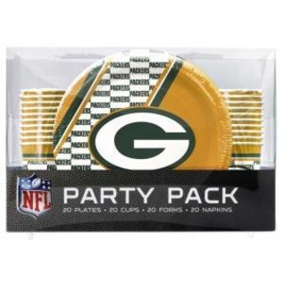 Duck House Green Bay Packers party packs - forks, cups, plates, napkins