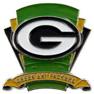Green Bay Packers Pin with Field Background & Small Banner