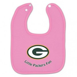 Green Bay Packers Pink Baby Bib