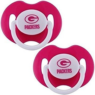 Baby Fanatics Green Bay Packers 2 Pack of Pink Pacifiers