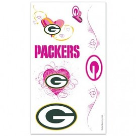 WinCraft, Inc. Green Bay Packers Pink Tattoo Sheet
