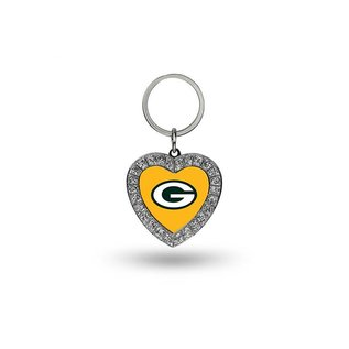 Rico Industries, Inc. Green Bay Packers Rhinestone Heart Keychain
