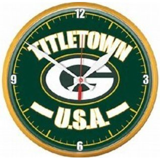 WinCraft, Inc. Green Bay Packers Round Clock - Titletown