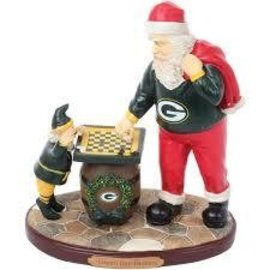 Green Bay Packers Santa Figurine - Checkers