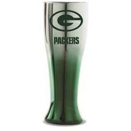 Green Bay Packers Silver pilsner with green bottom