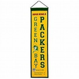 Green Bay Packers Super Bowl 2 Wool Pennant