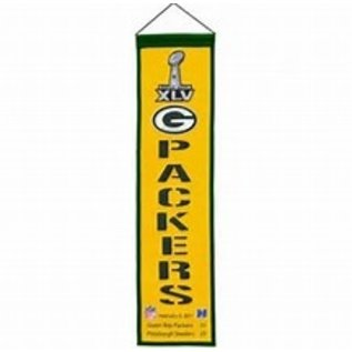 Green Bay Packers Super Bowl 45 Wool Banner