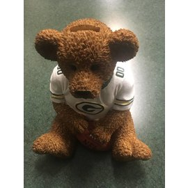 Green Bay Packers Teddy Bear Bank