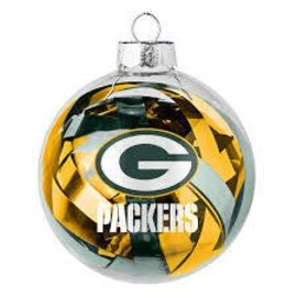 Green Bay Packers Tinsel Ball Ornament