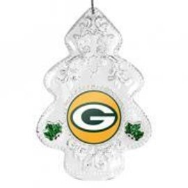 Green Bay Packers Traditional Clear Tree Ornament