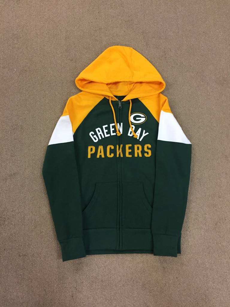 Green Bay Packers Women s Hot Route Full Zip Hoodie - Packerland Plus ba1e6d0d1