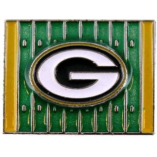 Green Bay Packers Yardage Pin - Shiny Field with G