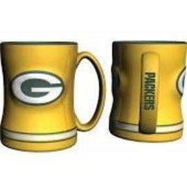 Boelter Brands LLC Green Bay Packers 15 oz Yellow Relief Coffee Mug