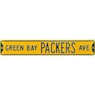 Authentic Street Signs Green Bay Packers Yellow Metal Avenue Sign