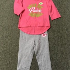 Green Bay Packers Youth Gray & Pink Pant Set