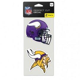 WinCraft, Inc. Minnesota Vikings 2 Pack 4x4 Perfect Cut Decal