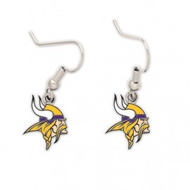 WinCraft, Inc. Minnesota Vikings dangle earrrings - Vikings head
