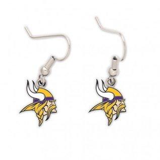 WinCraft, Inc. Minnesota Vikings dangle earrrings - Vikings head