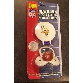 Minnesota Vikings Pacifier with Clip